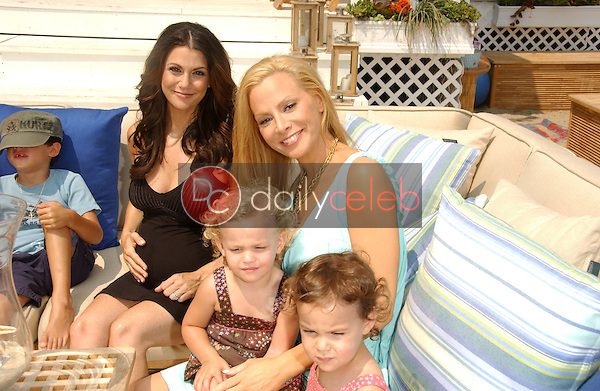 Samantha Harris with Cindy Margolis and family<br />