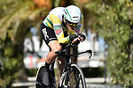 Australian National Champion Rohan Dennis (AUS) BMC Racing Team in action during Stage 7 of the 53rd edition of the Tirreno-Adriatico 2018 a 10km individual time trial around San Benedetto del Tronto, Italy. 13th March 2018.<br /> Picture: LaPresse/Fabio Ferrari | Cyclefile<br /> <br /> <br /> All photos usage must carry mandatory copyright credit (&copy; Cyclefile | LaPresse/Fabio Ferrari)