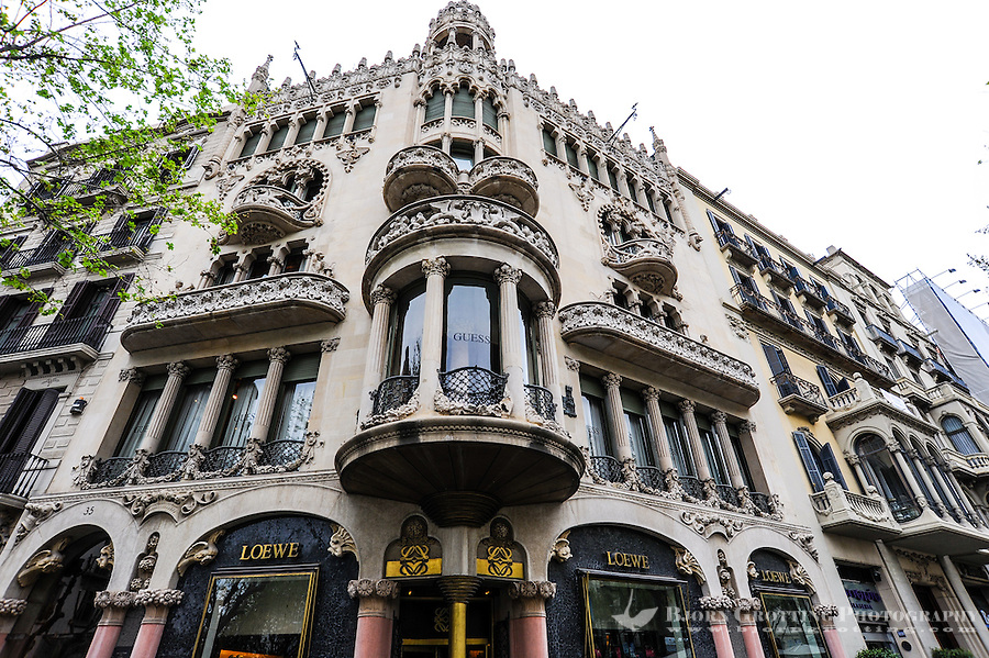 spain barcelona the casa llemorera is a building designed by llus domnech
