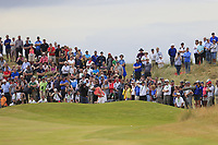 Matthieu Pavon (FRA) plays his 2nd shot on the 18th hole during Sunday's Final Round of the 2018 Dubai Duty Free Irish Open, held at Ballyliffin Golf Club, Ireland. 8th July 2018.<br /> Picture: Eoin Clarke   Golffile<br /> <br /> <br /> All photos usage must carry mandatory copyright credit (&copy; Golffile   Eoin Clarke)