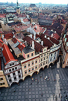 Overview of the Old Town Square, Prague, Czech Republic