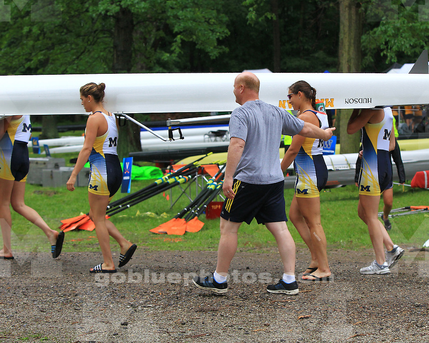 The University of Michigan rowing team competed on day one, advancing to the semifinals, at the  NCAA Championships at Eagle Creek Park in Indianapolis, Ind., on May 31, 2013.