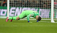 Chelsea's Kepa Arrizabalaga during the penalty shoot-out<br /> <br /> Photographer Rob Newell/CameraSport<br /> <br /> The Carabao Cup Final - Chelsea v Manchester City - Sunday 24th February 2019 - Wembley Stadium - London<br />  <br /> World Copyright © 2018 CameraSport. All rights reserved. 43 Linden Ave. Countesthorpe. Leicester. England. LE8 5PG - Tel: +44 (0) 116 277 4147 - admin@camerasport.com - www.camerasport.com