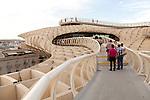 Metropol Parasol wooden structure in La Encarnación square, Seville, Spain designed by architect Jürgen Mayer-Hermann 2011
