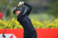 SINGAPORE - FEBRUARY 01: Sandra Gal of Germany on the 3rd tee during the second round of the HSBC Women's World Championship 2019 at Sentosa Golf Club - Tanjong Course, Singapore on March 01, 2019.<br /> .<br /> .<br /> .<br /> (Photo by: Naratip Golf Srisupab/SEALs Sports Images)<br /> .<br /> Any image use must include a mandatory credit line adjacent to the content which should read: Naratip Golf Srisupab/SEALs Sports Images