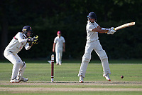 Robin Das in batting action for Wanstead during Brentwood CC vs Wanstead and Snaresbrook CC, Essex Cricket League Cricket at The Old County Ground on 12th September 2020