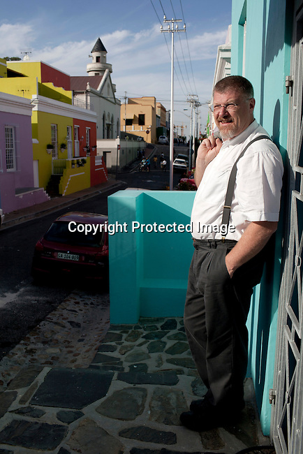 CAPE TOWN, SOUTH AFRICA - MARCH 14: The author Deon Meyer stands for a portrait in the Bo-Kaap area on March 14, 2012 in Cape Town, South Africa (Photo by Per-Anders Pettersson For Le Monde)