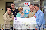 Ballybunion Blast from the past and the Honda 50 run raised EUR800 for the Kerry Cancer Support Group in Oakpark Tralee,  pictured at the presentation on Tuesday were Sean Prendergast, Kerry Cancer Support Group, Ger McCarthy, Mary O'Grady, Pat Hartnett and Kerry Cancer Support Group.