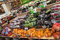 The produce section is seen in a Metro grocery store in Quebec city March 4, 2009.