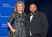 Arianna Huffington, left, and DJ Khaled arrive for the 2016 White House Correspondents Association Annual Dinner at the Washington Hilton Hotel on Saturday, April 30, 2016.<br /> Credit: Ron Sachs / CNP<br /> (RESTRICTION: NO New York or New Jersey Newspapers or newspapers within a 75 mile radius of New York City)