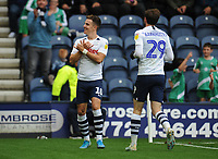 Preston North End's Josh Harrop celebrates scoring his side's fifth goal <br /> <br /> Photographer Kevin Barnes/CameraSport<br /> <br /> The EFL Sky Bet Championship - Preston North End v Barnsley - Saturday 5th October 2019 - Deepdale Stadium - Preston<br /> <br /> World Copyright © 2019 CameraSport. All rights reserved. 43 Linden Ave. Countesthorpe. Leicester. England. LE8 5PG - Tel: +44 (0) 116 277 4147 - admin@camerasport.com - www.camerasport.com