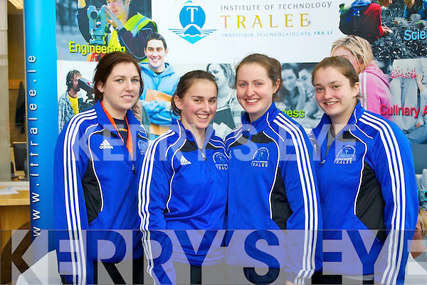FITNESS FUN: Enjoying the Fitt Sport-IT Tralee Fitness Convention at the Solas Building, North campus IT Tralee on Friday l-r: Siobhan McDonald, Sarah Murphy, Martina O'Brien and Eileen Cunihan.