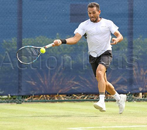 21.06.2016. Nottingham Tennis Centre, Nottingham, England. Aegon Open Mens ATP Tennis. Victor Estrella Burgos of Dominican Republic in action