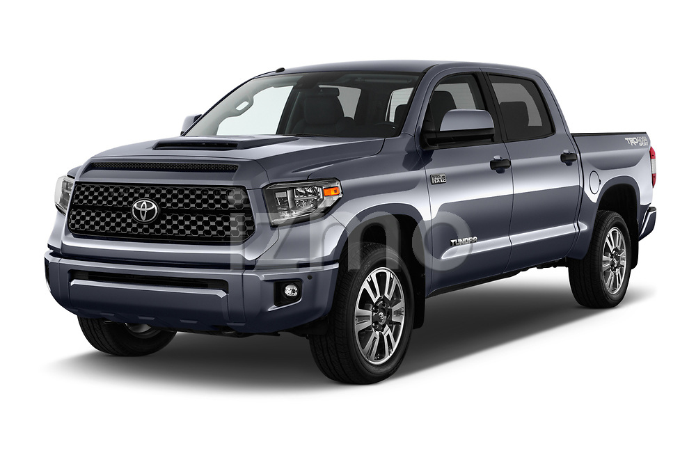 2018 Toyota Tundra TRD Sport Crew 4 Door Pick Up angular front stock photos of front three quarter view
