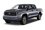 2018 Toyota Tundra TRD Sport Crew 4 Door Pick Up angular front stock photos of front three quarter view