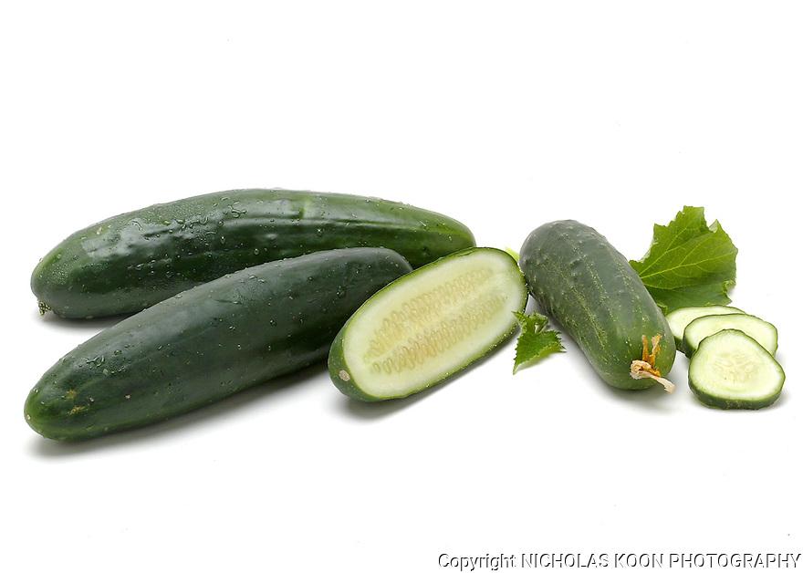 Cucumber still life.