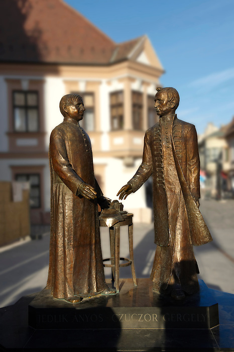 Jedlik Ånyos and Czuczor Gergely statue ( Scientists and inventors) - ( Gy?r )  Gyor Hungary