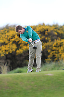 Jack Hume (Naas) on the 7th tee during round 2 of The West of Ireland Amateur Open in Co. Sligo Golf Club on Saturday 19th April 2014.<br /> Picture:  Thos Caffrey / www.golffile.ie