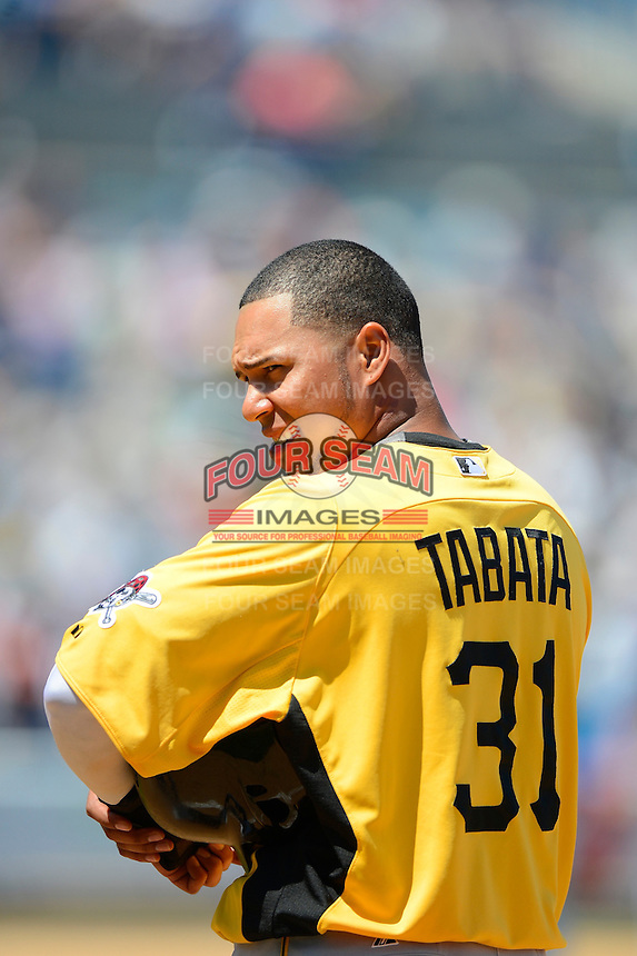 Pittsburgh Pirates outfielder Jose Tabata #31 during a Spring Training game against the New York Yankees at Legends Field on March 28, 2013 in Tampa, Florida.  (Mike Janes/Four Seam Images)