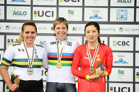 Picture by Simon Wilkinson/SWpix.com 23/03/2018 - Cycling 2018 UCI  Para-Cycling Track Cycling World Championships. Rio de Janeiro, Brazil - Barra Olympic Park Velodrome - Day 2 - Podium Alyda Norbruis