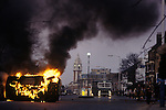 Brixton Riots. South London Uk April 1981. Brixton Town Hall clock tower in distance.