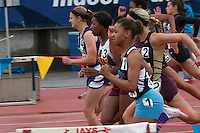 Kelly's Dakaria Johnson (#3) sprints to a runner-up finish in the Class 2 Girls 100 meter-dash in 12.78 seconds at the 2014 MSHSAA State Track and Field Championships in Jefferson City, MO. Saturday, March 24.