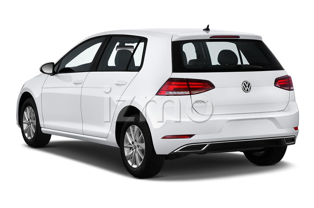 Car pictures of rear three quarter view of a 2019 Volkswagen Golf S 5 Door Hatchback angular rear