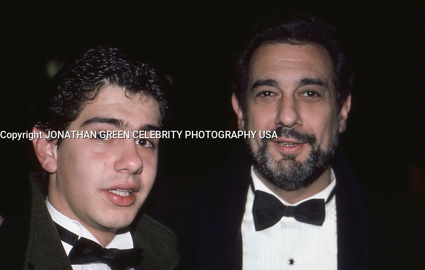 Placido Domingo &amp; Son 1986 By Jonathan <br /> Green