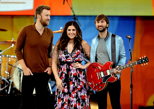 NEW YORK, NY - JULY 14: Charles Kelley, Hillary Scott and Dave Haywood  from Lady Antebellum perform in Central Park on July 14, 2017 as part of Good Morning America Summer concert Series. Photo by John Palmer/MediaPunch