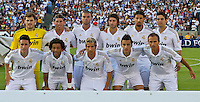 LOS ANGELES, CA – July 16, 2011: Real Madrid starting lineup during the match between LA Galaxy and Real Madrid at the Los Angeles Memorial Coliseum in Los Angeles, California. Final score Real Madrid 4, LA Galaxy 1.