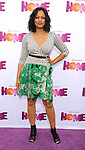 Garcelle Beauvais arriving at the Los Angeles premiere of Home, held at Regency Village Theater on March 22, 2015