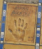 Hand print of the film director, Roman Polanski, outside the Palais des Festivals et des Congres, Cannes, France.