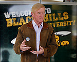 SPEARFISH, SD - OCTOBER 20, 2016 -- Libertarian vice-presidential candidate Bill Weld speaks to the media during a visit to the student union at Black Hills State University Thursday afternoon October 20, 2016.  About 125 people attended the campaign stop for the former Massachusetts governor.  (Photo by Richard Carlson/dakotapress.org)