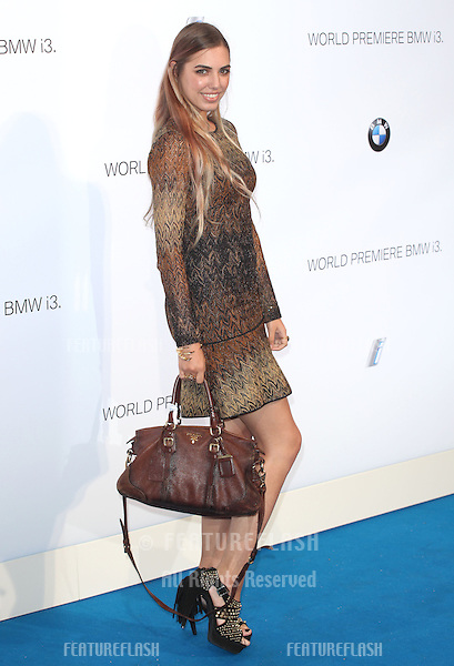 Amber Le Bon arriving for the BMW i3 Launch Party, at Old Billingsgate, London. 29/07/2013 Picture by: Alexandra Glen / Featureflash
