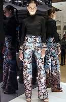 Model in Look 5: Floral Peplum Top, Floral Sunset Pant