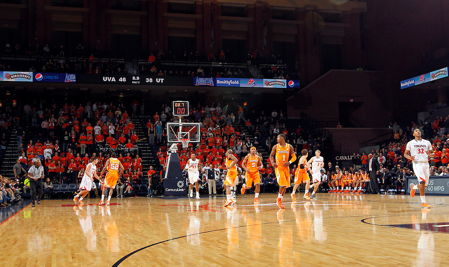 Virginia leads Tennessee  during the game Wednesday in Charlottesville, VA. Virginia defeated Tennessee 46-38.