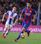 18.12.2016 Luis Suarez in action during game between FC Barcelona against RCD Espanyol at Camp Nou. La liga day 16