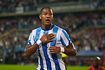 19.09.2010, Malaga, Estadio La Rosaleda, ESP, Primera Division, FC Malaga vs FC Sevilla, im Bild Salomón Rondón the Malaga forward celebrattes scoring a goal during the La Liga match between CF Malaga and Sevilla, played in the La Rosaleda Stadium, Malaga Spain. EXPA Pictures © 2010, PhotoCredit: EXPA/ M. Gunn