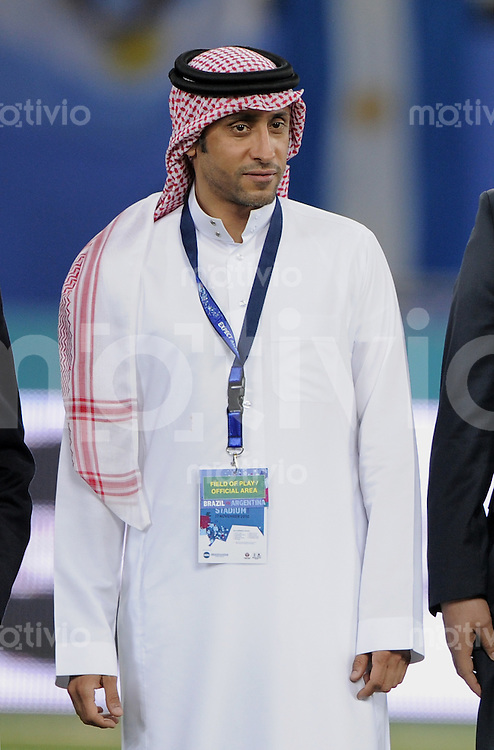 FUSSBALL   INTERNATIONAL   Testspiel  in  Doha  17.11.2010 Argentinien - Brasilien Ex Fussballer Sami Al Jaber (Saui Arabien)