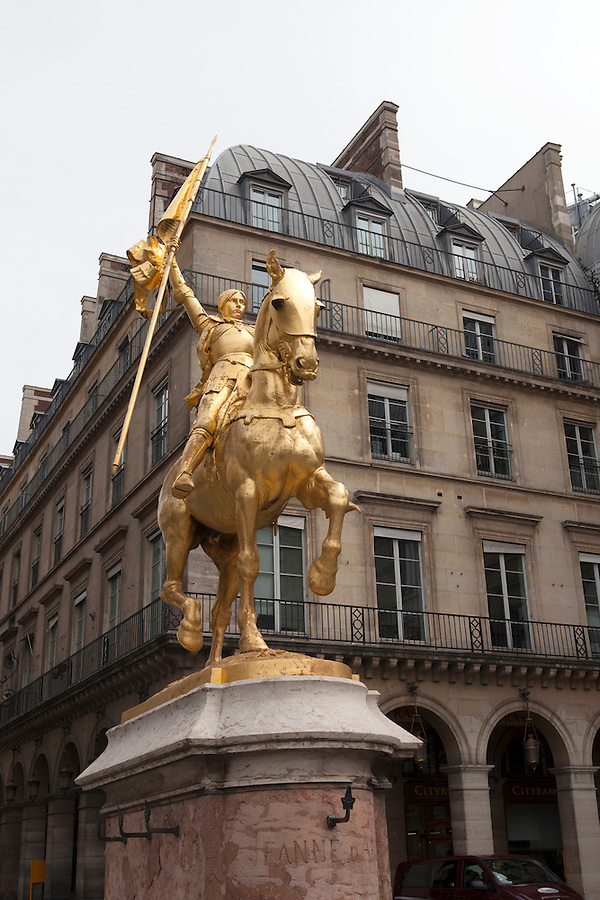 Joan of Arc statue by  Emmanuel Frémiet inaugurated in 1874 in Paris, France