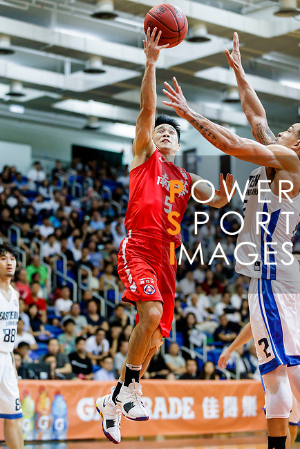 Lo Yi Ting #5 of SCAA Men's Basketball Team tries to score against the Eastern Long Lions during the Hong Kong Basketball League game between Eastern Long Lions and SCAA at Southorn Stadium on May 29, 2018 in Hong Kong. Photo by Yu Chun Christopher Wong / Power Sport Images