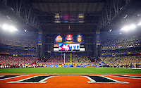 Jan 10, 2011; Glendale, AZ, USA; A general view before the 2011 BCS National Championship game between the Oregon Ducks and the Auburn Tigers at University of Phoenix Stadium.  Mandatory Credit: Mark J. Rebilas-