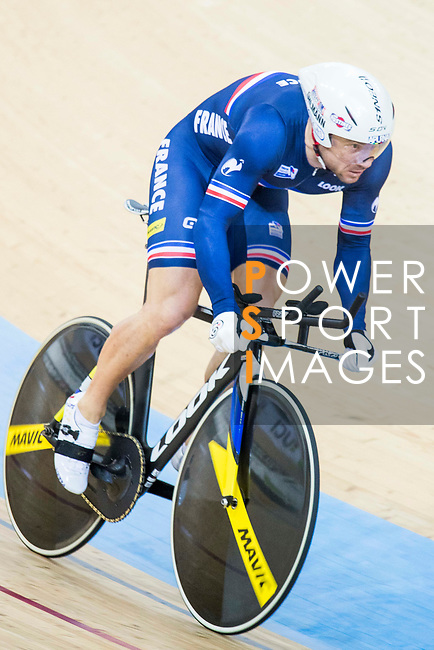 Francois Pervis of France competes in the Men's Kilometre TT - Qualifying during the 2017 UCI Track Cycling World Championships on 16 April 2017, in Hong Kong Velodrome, Hong Kong, China. Photo by Chris Wong / Power Sport Images