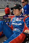 31 May 2008: Hideki Mutoh (JPN) before qualifying for the ABC Supply Company Inc. AJ Foyt 225 IndyCar race at the Milwaukee Mile, West Allis, Wisconsin.