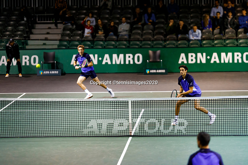 Rotterdam, The Netherlands, 12 Februari 2020, ABNAMRO World Tennis Tournament, Ahoy, Doubles: Pierre-Hugues Herbert (FRA) and Nicolas Mahut (FRA).<br /> Photo: www.tennisimages.com