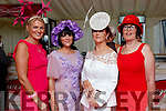 Antoinette Dolan (Galway) with Noreen O'Sullivan and Mary O'Sullivan (Beaufort), Mary C Sullivan (Beara), enjoying Ladies Day at Listowel Races on Friday last.