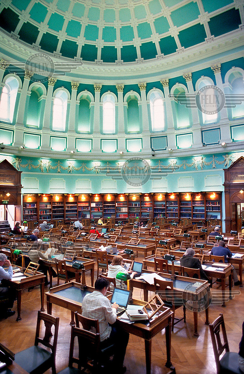 The reading room of the National Library of Ireland.