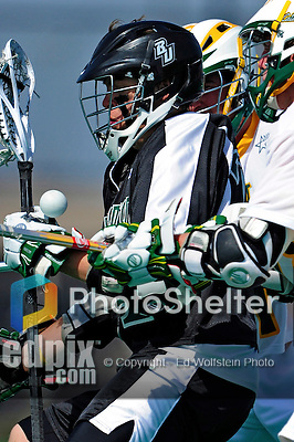 3 April 2010: Binghamton University Bearcats' Attacker Matt Springer, a Freshman from Hamburg, NY, in action against the University of Vermont Catamounts at Moulton Winder Field in Burlington, Vermont. The Catamounts defeated the visiting Bearcats 11-8 in Vermont's opening home game of the 2010 season. Mandatory Credit: Ed Wolfstein Photo