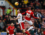 Chris Basham of Sheffield Utd challenges Jacob Murphy of Coventry City - English League One - Sheffield Utd vs Coventry City - Bramall Lane Stadium - Sheffield - England - 13th December 2015 - Pic Simon Bellis/Sportimage-