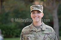 Woman in uniform. model-released, Army portrait